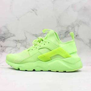 Huarace Run الترا الاحذية الفلورسنت الأخضر مريحة منخفضة أحذية رياضية أحذية رياضية مصمم أعلى جودة الرجال النساء 36-45