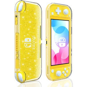 Crystal Glitter Case para Nintendo Switch Lite, Clear Shiny Sparkly TPU Fluorescente Capa Soft Cover Shell para Switch Lite