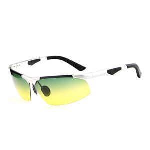 HDCRAFTER мужские солнцезащитные очки поляризованные UV400 цветная пленка ночного видения Спорт на открытом воздухе Очки оправа occhiali da sole firmati E300