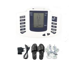 Electroestimulación pie masajeador zapatilla terapia de choque eléctrico Masaje de cuerpo completo Decenas EMS máquina Estim Health Care regalo para la familia JR309