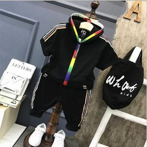 New children's wear a new generation of 2020 children's leisure two sets summer new children's hooded short sleeve sets sell well