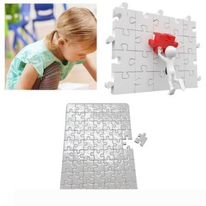 trasferimento carte da stampa di puzzle formato A4 in bianco Jigsaw puzzle di carta Un calore per i bambini fai da te trasferimento termico materiale vinilico Pearlescent