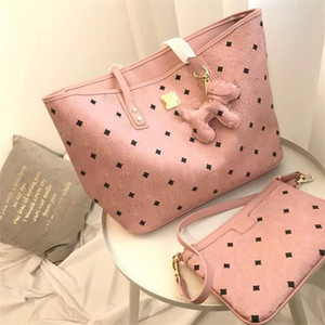 Couleur Rose Sugao Lettre Femmes Sacs à main Deux pièces Set de haute qualité pour les sacs d'épaule fille Sacs à main 3color Avaliable Hot Vente Sac Fashion Style