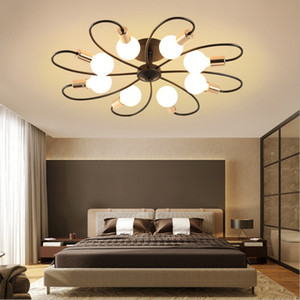 Soffitto del LED per le lampade, Supporto semi a livello Pendant Light, Mid-Century Sputnik lampadario luce, Starburst Illuminazione per bagno camera da letto
