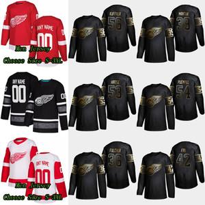 56 Ryan Kuffner 2019 Golden Edition Detroit Red Wings 42 Martin Frk 54 Matt Puempel 39 Anthony Mantha 53 Taro Hirose 36 Kaden Fulcher Jersey