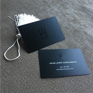 Customized metallo Biglietti da visita in acciaio inox di stampa VIP Card uomo da visita e la lega di alluminio File Business Carta