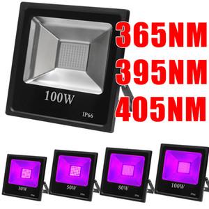Luz Ultravioleta SMD inundación, de alta potencia LED de luz negra UV con el enchufe, IP66 impermeable al aire libre, 365 nm para el cartel resplandor fluorescente en la oscuridad