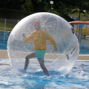 Kostenloser Versand 2m 0.8mm PVC aufblasbares Wasser Geht Menschen Hamster Ball Zorb Kugel-Plastikkugel-Wasser-Tanz Ballon-Spiel