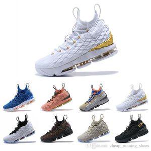 Yeni Yüksek Kalite Yeni Külleri Hayalet Lebron 15 Basketbol Ayakkabı Varış Sneakers 15 s Erkek Casual 15 Kingjames Spor Ayakkabı Lbj Eur 40-46
