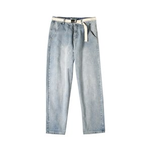 Spring and summer 2020 denim jeans men straight loose 2020 new wild dad thin students were harem leg pants