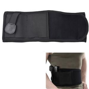 Carry Belly tático Banda coldre para arma escondida pistola bolsa saco da cintura Invisible Elastic Cinturão Belt para a caça ao ar livre