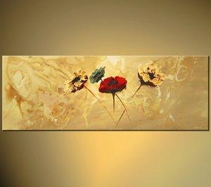 Énorme abstraite peinte à la main Art Vente Peintures Art floral moderne mur toile Arts Galerie de Peintures Art Pièces Salon