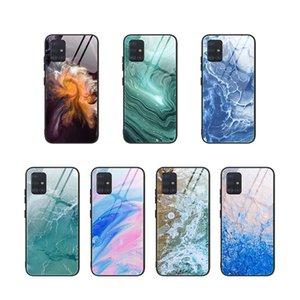 Für Samsung A10S A20 A30 A50 A51 Marble Texture Ausgeglichenes Glas-Kasten modernes buntes Muster Schutzhülle für SAM A70A80A90A71