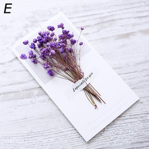 2019 New Creative Dried Flowers+Papercard Folding Type Greeting Cards Christmas Birthday Party Wedding Invitations 13 Colors