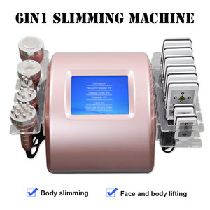 Portable 6IN1 cavitation slimming equipment rf vacuum ultrasound diode lipo laser device lipolaser fat removal machine