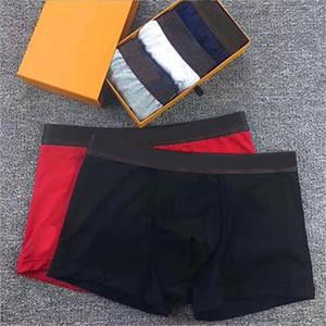 5 unids / lote sin caja para hombre ropa interior boxers breve pantalones cortos calzoncillos hombres vintage algodón sexy cueca boxeador transpirable hombre gay