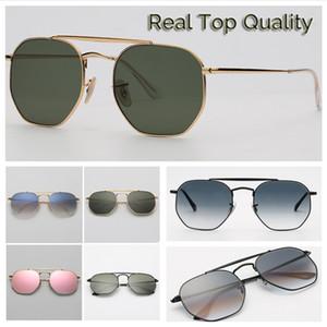 3648 Novos 2018 Hexagonal Sunglasses G15 lense vidro modelo geral vidros de sol shades mulheres UV400 óculos Lentes claras lentes