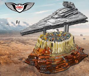 Çocuklar için Oyun Oyuncak Yapı Taşları Yıldız Yıldızlararası Cidde Şehri 3B Model 90007MOC Küçük Parçacıklar Aksesuarları Uzay gemisi