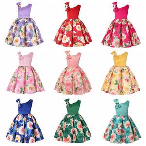 Abito da ragazza con spalle inclinate di Halloween a 9 stili Vestito da principessa per ragazza di ballo di Halloween stampato per bambini con ballo di Halloween FFA2800