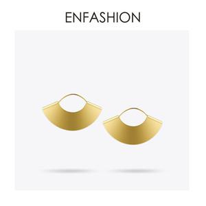 Enfashion Vintage Camber Fan Baumeln Matt Gold Farbe Ohrringe Ohrringe Für Frauen Lange Ohrring Schmuck Brinco E5424 C19041101