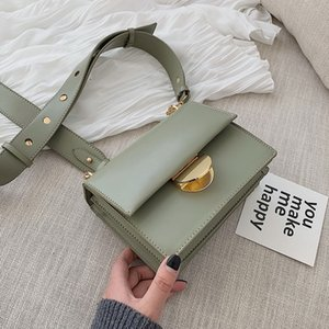 Elegant Female Flap Square Bag 2019 Fashion New High Quality PU Leather Women's Handbag Casual Shoulder Messenger bag