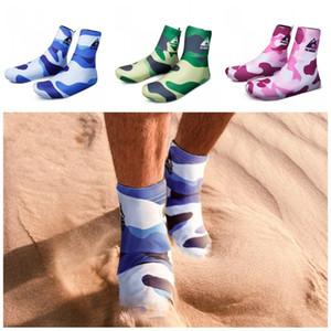 Al aire libre Desierto Senderismo Cubiertas de zapatos Lycra Antideslizante Manga del pie Camo Ciclismo Calzado Ajuste Hombres Mujeres S M L 27gl E1