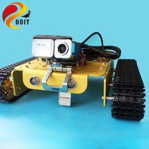 T200 Пульт дистанционного управления WiFi Видео Робот Tank шасси Мобильная платформа Arduino Robot Project с HD камеры Смарт RC игрушки