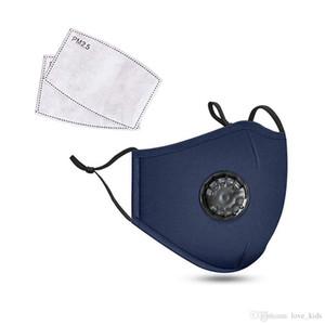 Mode mignon doux Masques unisexe coton visage avec Souffle PM2,5 Valve bouche Masque anti-poussière masque de tissu réutilisable avec 2 filtres à l'intérieur bateau rapide