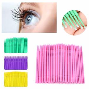 50pcs Pack Multi-color Eyelash Brushes Micro Brushes Disposable Eyelashes Mascara Wands Applicators Medium Superior Makeup Tool