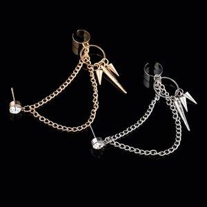 여성 싱글 귀걸이 펑크 매력 합금 귀 걸쇠를 들어 여성 생일 새해 크리스마스 선물