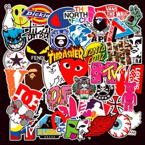 100 PCS / Set Car Stickers Car Acessórios etiquetas legal impermeáveis ​​para Popular Mixed vinil Skate da guitarra adesivos TH06 Laptop Notebook