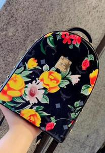 Qualität bester Preis! Design Leder Mini Frauen und Kinder farbige Zeichnung Camouflage Designer Rucksack Mode Schultasche