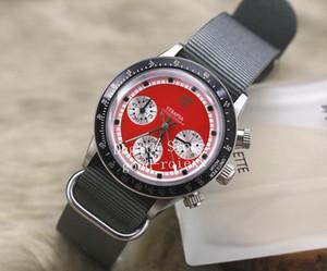 Высококачественные мужские кварцевые часы с хронографом Мужские красные циферблаты Швейцарские часы Ronda Sport Fabric Cosmograph Часы Baselworld Старинные наручные часы