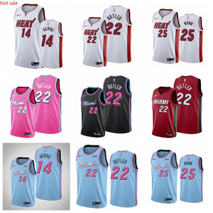 Hot 3 DwyaneWade Tyler Herro JimmyButler MiamiHeatMen 2019 20 Swingman Basketball Jersey IconEdition