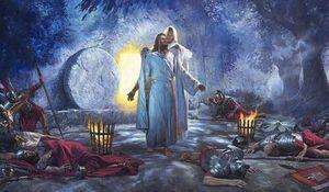 Nathan Greene Die Auferstehung Jesus Christus Ostersonntag Hauptdekor-handgemaltes HD-Druck-Ölgemälde auf Leinwand-Wand-Kunst-Leinwand-200227