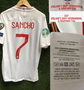 2019 Jogo Worn Edição do Jogador 1000 Jogo da Memória Kane Jersey Rashford Sancho Henderson Sterling shirt
