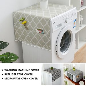 Washing machine dust cover Single open double open refrigerator towels Breathable refrigerator protective cover Drum washing machine cover