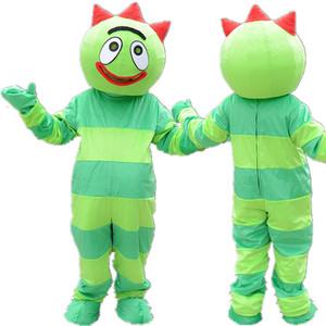 Профессиональный пользовательские Yo Gabba Gabba костюм талисмана мультфильм зеленый монстр аниме тема персонаж одежда Хэллоуин фестиваль фантазии платье