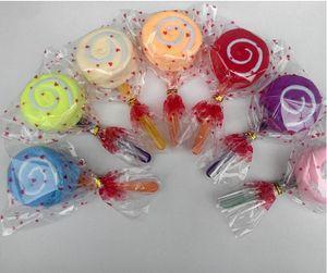 20 قطعة مصاصة منشفة كعكة الحلوى الملونة الإبداعية المناشف هدية القطن منشفة جميلة