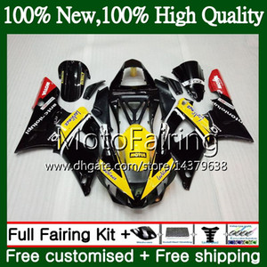 Cuerpo para YAMAHA YZF 1000 YZF R 1 YZF-1000 YZFR1 00 01 Marco amarillo negro 95MF1 YZF R1 00 01 YZF1000 YZF-R1 2000 2001 Carenado Kit