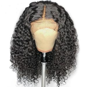 Court Bob Curly Lace Front Wigs avec bébé cheveux pré plumé perruques de cheveux humains pour les femmes noires Vague de dentelle Perruques