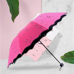 High Quality Water Bloom Umbrella Anti-UV Waterproof Portable Travel Umbrella Male Female Sunny Parasol Travel Parapluie