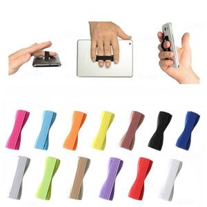 Sling Grip Cell Phone Holder Rubber Finger Handle Back Sticker Single Hand Elastic Band Anti Slip anti-fall Belt For Apple iphone DHL