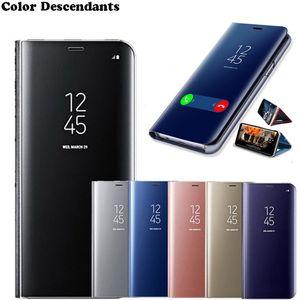 Smart Mirror Phone Case For Samsung Galaxy A40 A30 A20 Original Clear Leather Case For Samsung Galaxy A20E A10 A10E