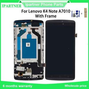 Para substituição de peças Lenovo K4 Nota A7010 5,5 polegadas LCD Touch Screen de montagem digitador com frame para a Lenovo K4 Nota