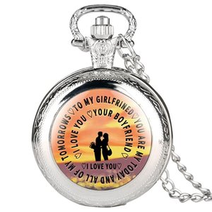 Exquisite Pocket Watches for Girlfriend,Special Gift Necklace Pocket Watch for Lover,Black Quartz Pocket Watch for Girl