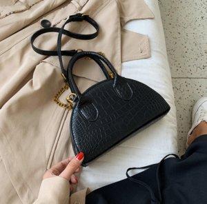 럭셔리 핸드백 지갑 숙녀 디자이너 패션 여성 가방 악어 스킨 여성의 어깨 가방 패션 쉘 미니 핸드백 레이디 암소 //