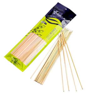 longitud 30 cm Hoomall 100 piezas / docena de parrilla de la barbacoa esteras de bambú brochetas de parrilla Shish Las astillas de madera barbacoa Herramientas Churrasco desechables