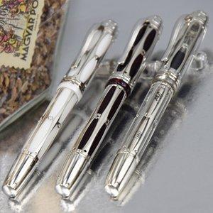 MB Luxus durchbohrt Transparency Bottom Papst Julius II Spezielle klassische M4810 Feder Füllfederhalter mit Naked Lady Clip + Gift Ink + Gift Plüsch-Beutel