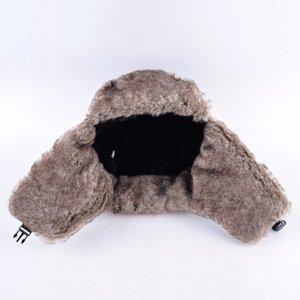 Chapeaux de Bombardier pour les garçons et les filles d'hiver extérieure pour les enfants en fausse fourrure Caps épais avec oreilles Clapets chaud enfants Camo trappeur Chapeau Masques